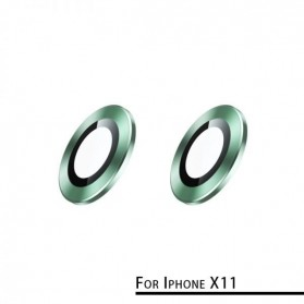 Remax Creation Series Camera Ring Lens Protector Pelindung Kamera iPhone 11 - GL-59 - Green