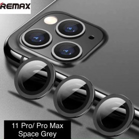 Remax Creation Series Camera Ring Lens Protector Pelindung Kamera iPhone 11 Pro/Pro Max - GL-59 - Gray