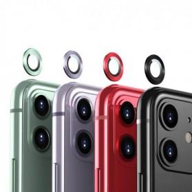 Remax Creation Series Camera Ring Lens Protector Pelindung Kamera iPhone 11 Pro/Pro Max - GL-59 - Golden - 3