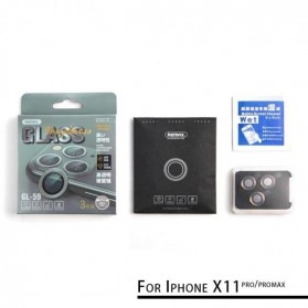 Remax Creation Series Camera Ring Lens Protector Pelindung Kamera iPhone 11 Pro/Pro Max - GL-59 - Golden - 4