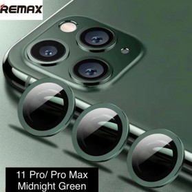 Remax Creation Series Camera Ring Lens Protector Pelindung Kamera iPhone 11 Pro/Pro Max - GL-59 - Green