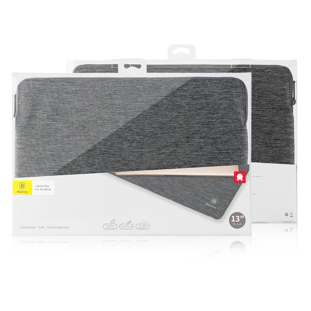 baseus sleeve case for macbook pro 2016 15 inch touch bar gray. Black Bedroom Furniture Sets. Home Design Ideas