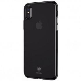Baseus Simple Slim Series TPU Case for iPhone X - Black - 2