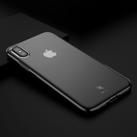 Baseus Simple Slim Series TPU Case for iPhone X - Black - 4