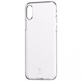 Baseus Pluggy Slim Series TPU Case for iPhone X - White