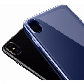 Baseus Pluggy Slim Series TPU Case for iPhone X - Blue - 2
