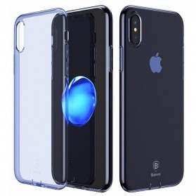 Baseus Pluggy Slim Series TPU Case for iPhone X - Blue - 3
