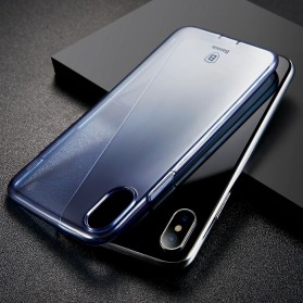 Baseus Pluggy Slim Series TPU Case for iPhone X - Blue - 4