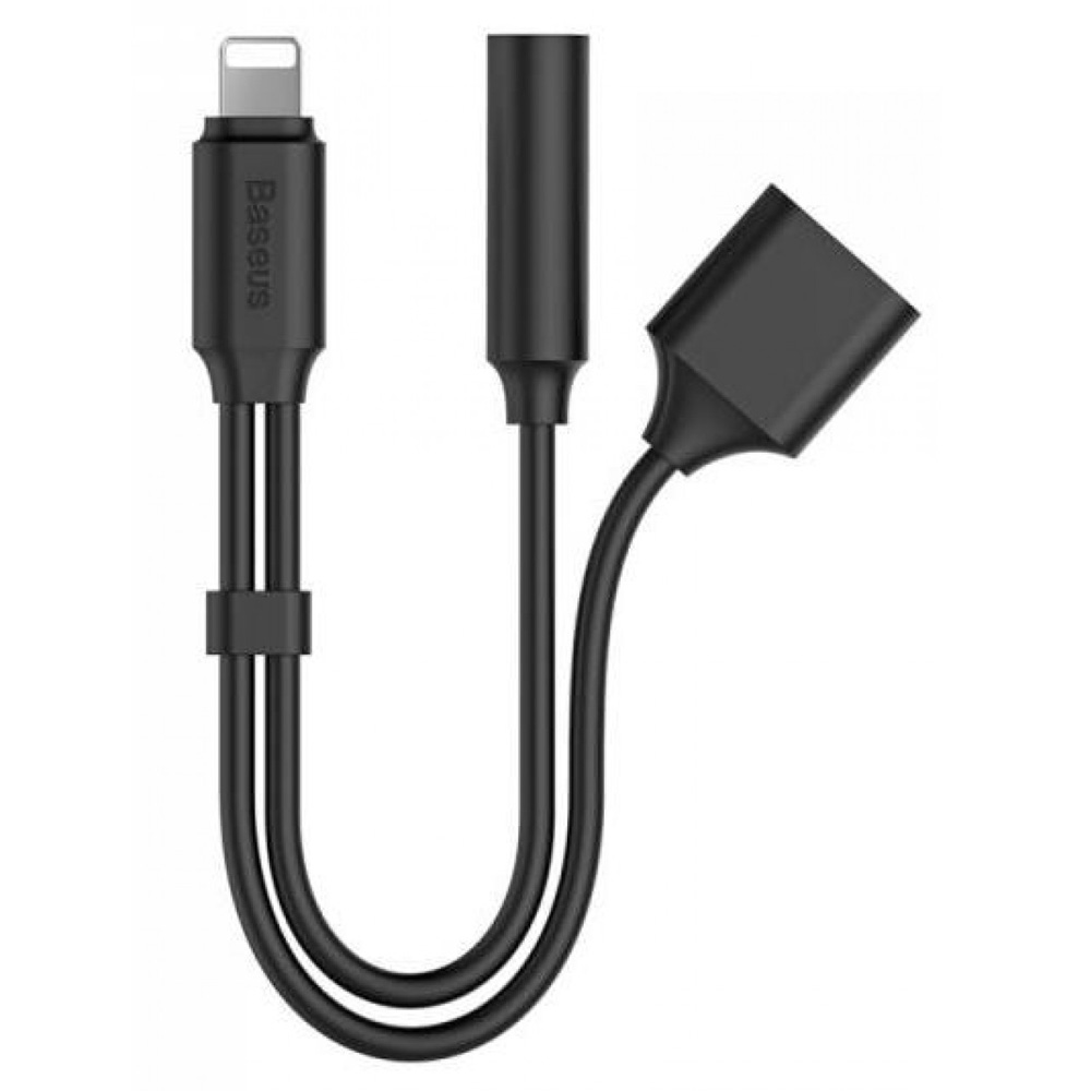 baseus adapter lightning to aux headphone. Black Bedroom Furniture Sets. Home Design Ideas