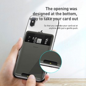 Baseus Smartphone Silicone Card Holder 3M - ACKD-A0G - Black - 3