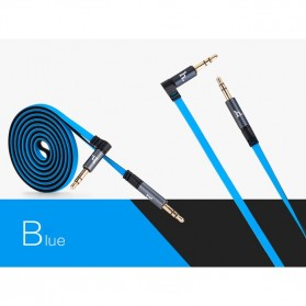 Hoco UPA01 Dual Color AUX Cable 3.5mm 1.6 Meter - Blue