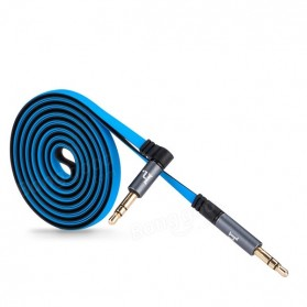 Hoco UPA01 Dual Color AUX Cable 3.5mm 1.6 Meter - Blue - 2