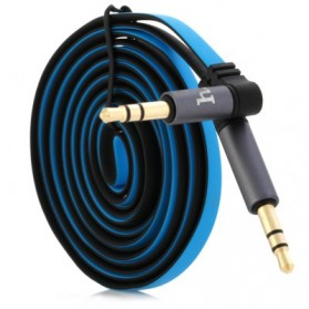 Hoco UPA01 Dual Color AUX Cable 3.5mm 1.6 Meter - Blue - 4