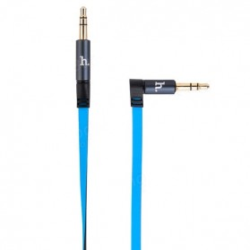 Hoco UPA01 Dual Color AUX Cable 3.5mm 1.6 Meter - Blue - 5