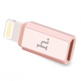 Hoco Lightning to Micro USB Adapter - Rose Gold