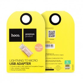 Hoco Lightning to Micro USB Adapter - Rose Gold - 4