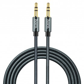 Hoco Kabel AUX 3.5mm Braided 1 Meter - UPA03 - Black