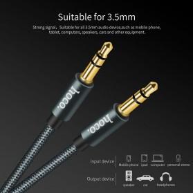 Hoco Kabel AUX 3.5mm Braided 1 Meter - UPA03 - Black - 2