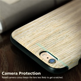 Rock Origin Series Grained Case for iPhone 6/6s - Wooden - 2
