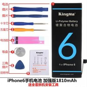 Baterai & Charger - KingMa Baterai iPhone 6 1810mAh dengan Set Obeng Reparasi - Black