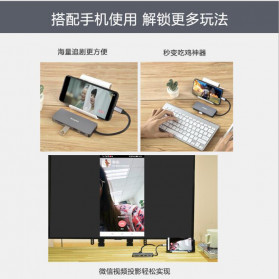 KingMa USB Type C Adapter Hub 7 in 1 USB 3.0 + USB Type C + HDMI + Card Reader - BMU012 - Silver - 4