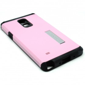 SGP Tough Armor Plastic + TPU Combination Case with Kickstand for Galaxy Note 4 (OEM) - Pink