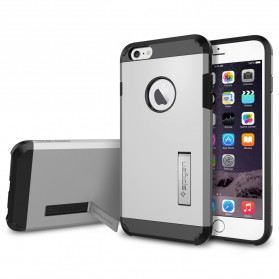 SGP Tough Armor Plastic + TPU Combination Case with Kickstand for iPhone 6 Plus (Replika 1:1) - Silver