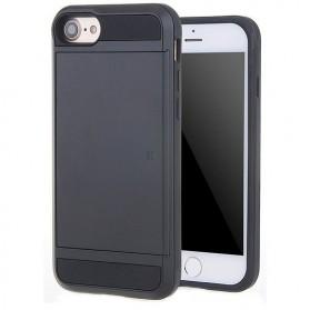 SGP Hybrid Tough Armor Case with Card Slider for iPhone 7/8 (OEM) - Black