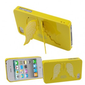 SGP Angel Series Ultra Slim Protection Case with LCD Screen Protector for iPhone 4 & 4S (OEM) - Yellow - 1