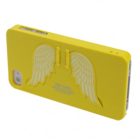 SGP Angel Series Ultra Slim Protection Case with LCD Screen Protector for iPhone 4 & 4S (OEM) - Yellow - 3