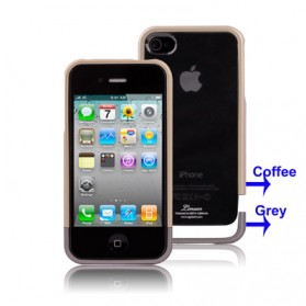 SGP 3 in 1 (Plastic Back Cover + Screen Protector + Plastic Bumper Frame) for iPhone 4/4s - 2532 - Golden