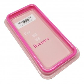 SGP Neo Hybrid EX Bumper Frame Silicon + PC Case with Keys for iPhone 5/5s - Rose