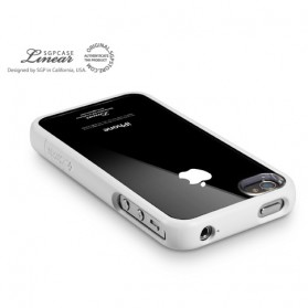 SGP 3 in 1 (Plastic Back Cover + Screen Protector + Plastic Bumper Frame) for iPhone 4/4s - 2531 - White