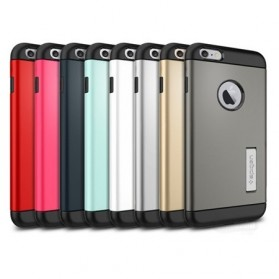SGP Slim Armor Plastic + TPU Combination Case with Kickstand for iPhone 6 Plus (OEM) - Pink