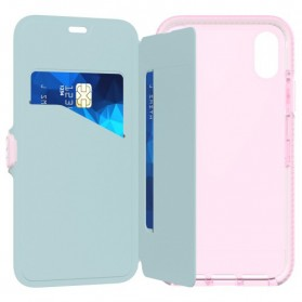 Tech21 Evo Wallet Case for iPhone X - Rose - 10