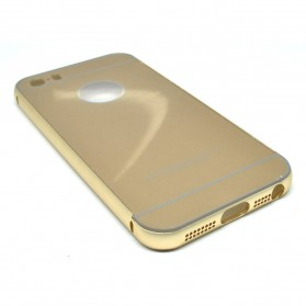 Ultra Thin Aluminium Metal Bumper Case Single Color with back cover for iPhone 5/5s/SE - Golden - 2