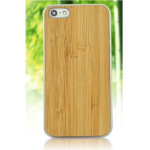 Bamboo Wood Case Plain Motif for iPhone 6 - Golden - JakartaNotebook.com