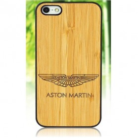 Bamboo Wood Case Aston Martin Motif for iPhone 6 Plus - Golden