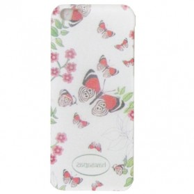 Butterfly Plastic Case for iPhone 6 - PS17 - White