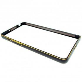 Ultra Thin Aluminium Metal Bumper Case Dual Color for Zenfone 5 - Black Gold