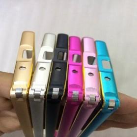 Ultra Thin Aluminium Metal Bumper Case Dual Color for Zenfone 5 - Rose Gold - 2