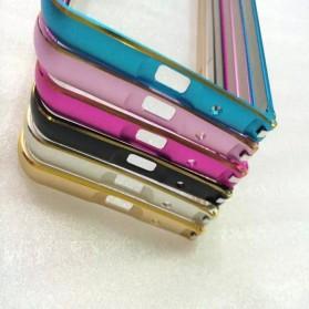Ultra Thin Aluminium Metal Bumper Case Dual Color for Zenfone 5 - Golden - 3