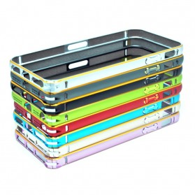 Ultra Thin Aluminium Metal Curve Bumper Case Dual Color for iPhone 5/5s/SE - Pink - 2