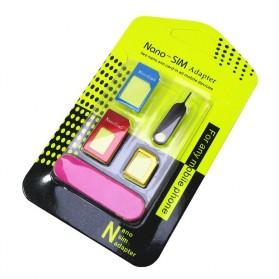 Nano SIM Adapter 3 in 1 dengan Pin & Pengasah
