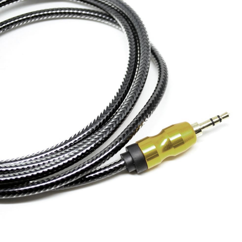 kabel audio aux gold plated hifi 1 5 meter black. Black Bedroom Furniture Sets. Home Design Ideas