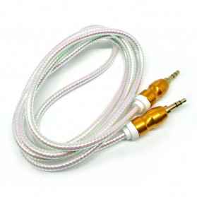 Kabel Audio Aux 3.5mm Gold Plated HiFi 1.5 Meter - AV117 - White