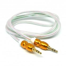 Kabel Audio Aux 3.5mm Gold Plated HiFi 1.5 Meter - AV117 - White - 2