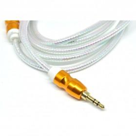 Kabel Audio Aux 3.5mm Gold Plated HiFi 1.5 Meter - AV117 - White - 3
