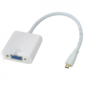Adapter Micro HDMI ke VGA - White
