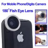 Action Camera, Camera, Tripod, Camera Case - Fisheye Wide Angle 180 Degree Lens for iPhone 4 / Mobile Phone / Digital Camera